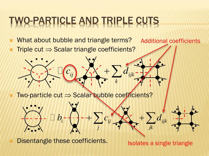 Two-particle and triple cuts