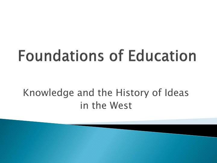 foundations of education n.