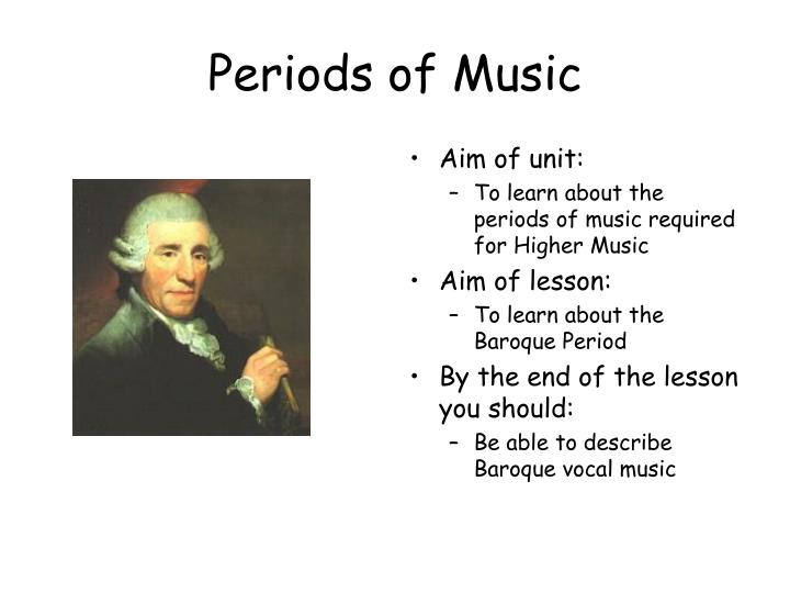 periods of music n.