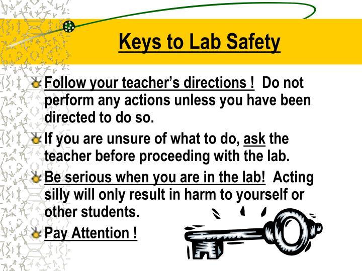 Keys to Lab Safety