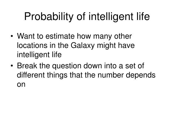 Probability of intelligent life