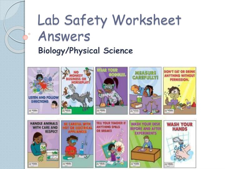 lab safety worksheet answers n.