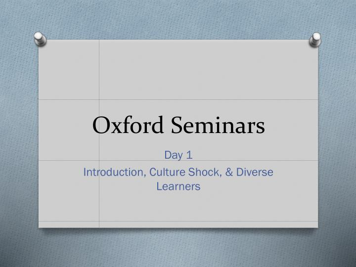 oxford seminars n.