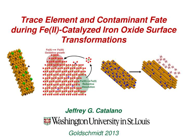 trace element and contaminant fate during fe ii catalyzed iron oxide surface transformations n.