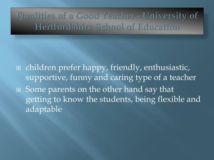 qualities of an ideal university