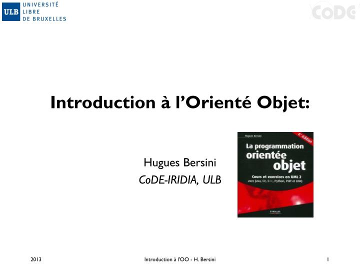 introduction l orient objet n.