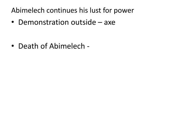 Abimelech