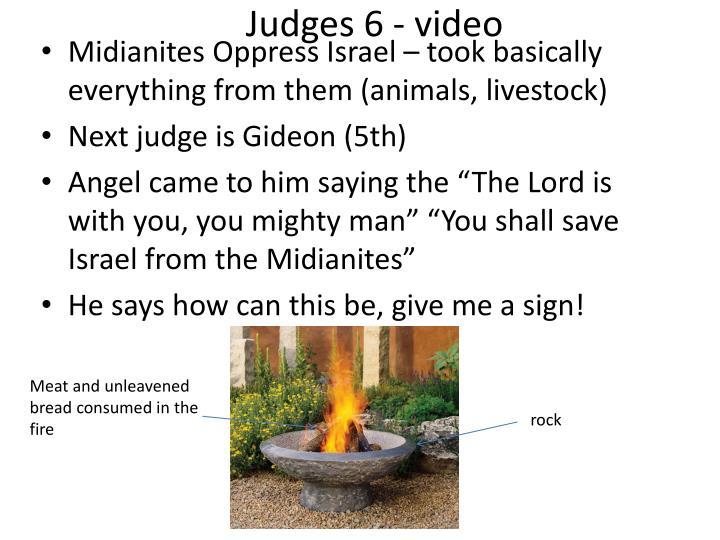 Judges 6 - video