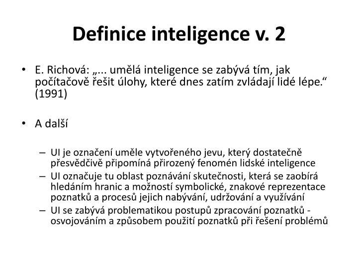 Definice inteligence v.