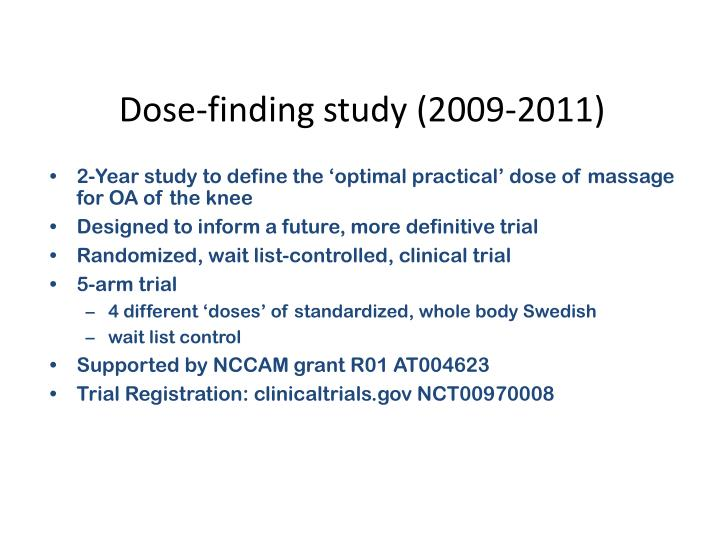 Dose-finding study (2009-2011)