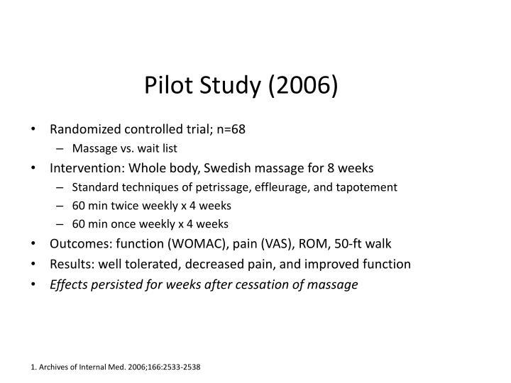 Pilot Study (2006)