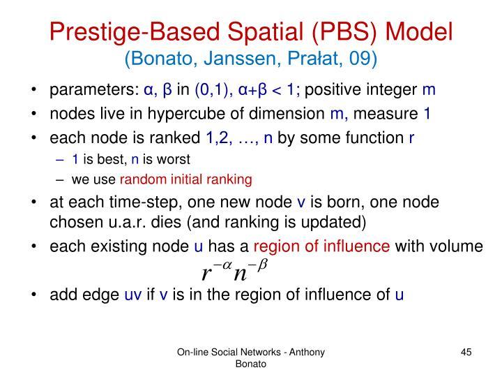 Prestige-Based Spatial (PBS) Model