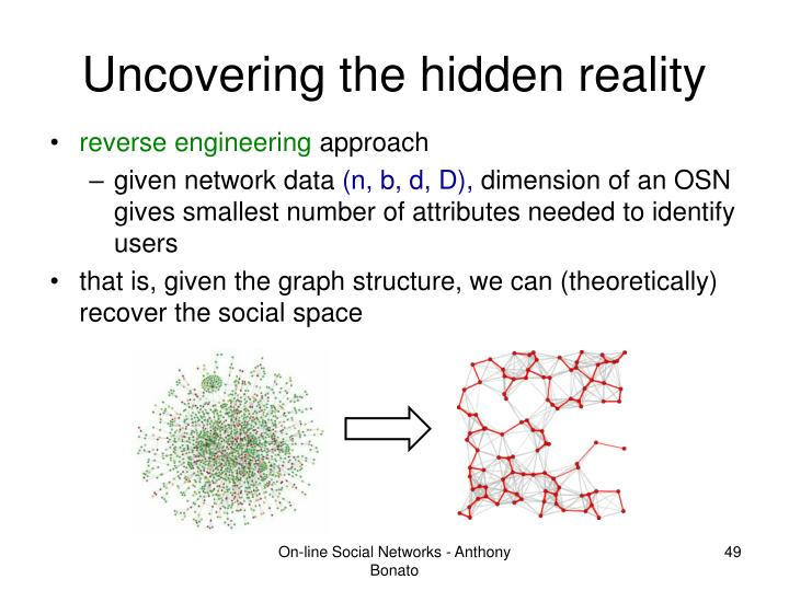Uncovering the hidden reality