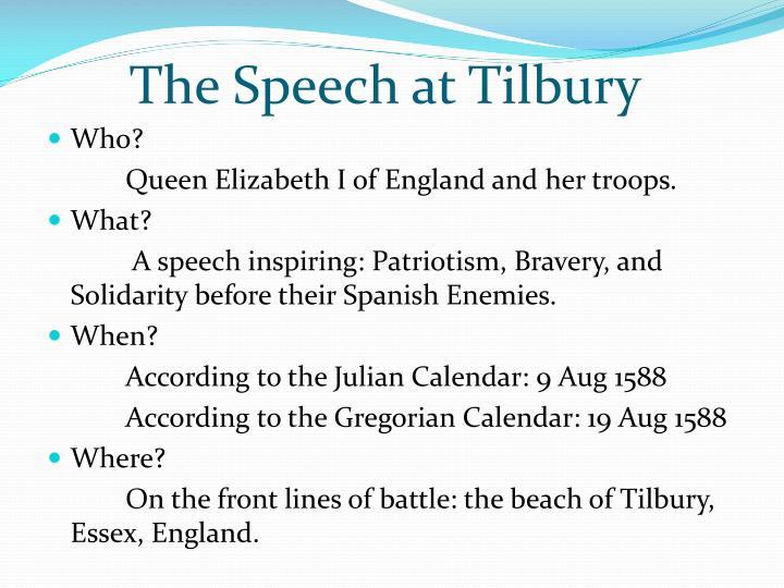 speech before her troops