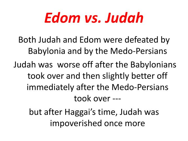 Edom vs. Judah