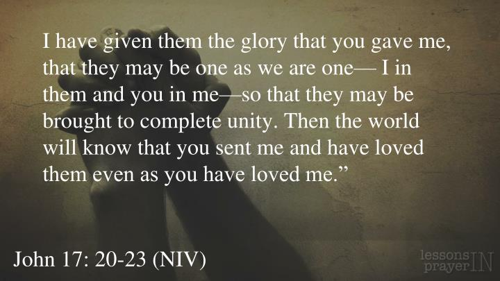 Image result for John 17:20 Unity service