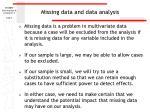 missing data and data analysis