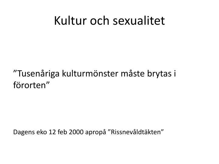 Kultur och sexualitet