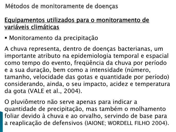 Métodos de monitoramente de doenças