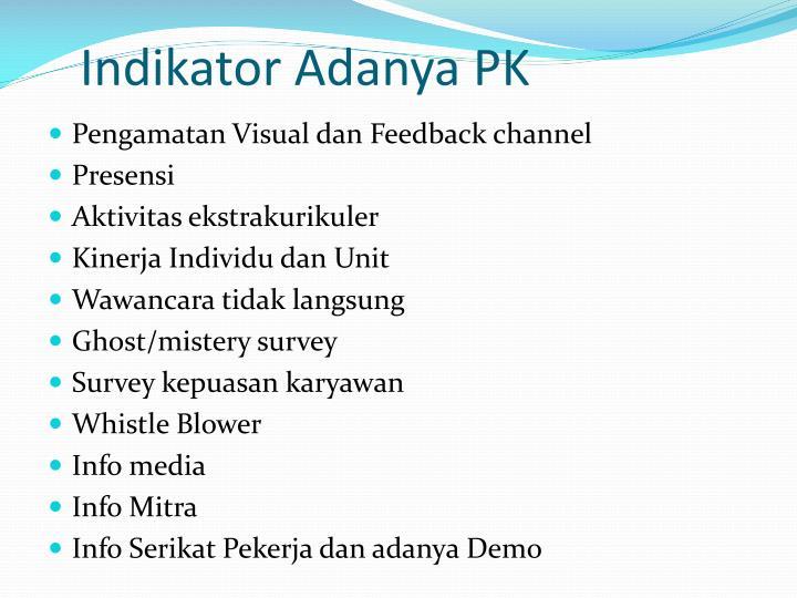 Indikator Adanya PK