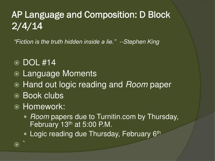 ap language and composition d block 2 4 14 n.