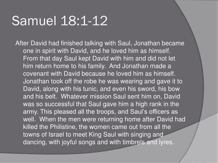 Samuel 18:1-12