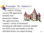 example st andrew s