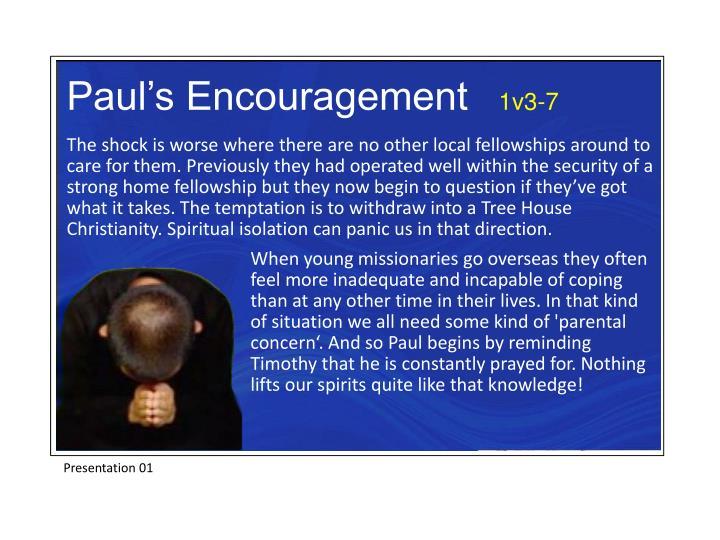 Paul's Encouragement