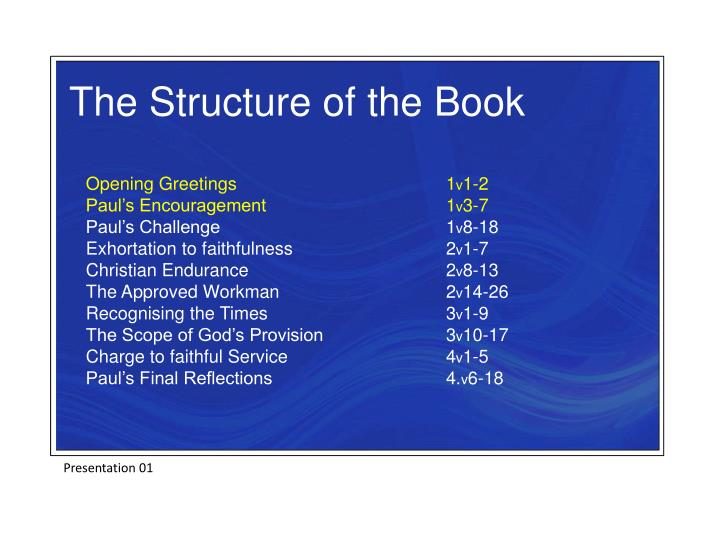 The Structure of the Book