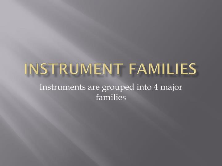 instrument families n.