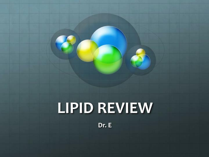 lipid review n.