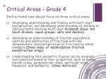 critical areas grade 4