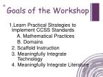 goals of the workshop