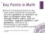 key points in math1