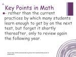 key points in math3