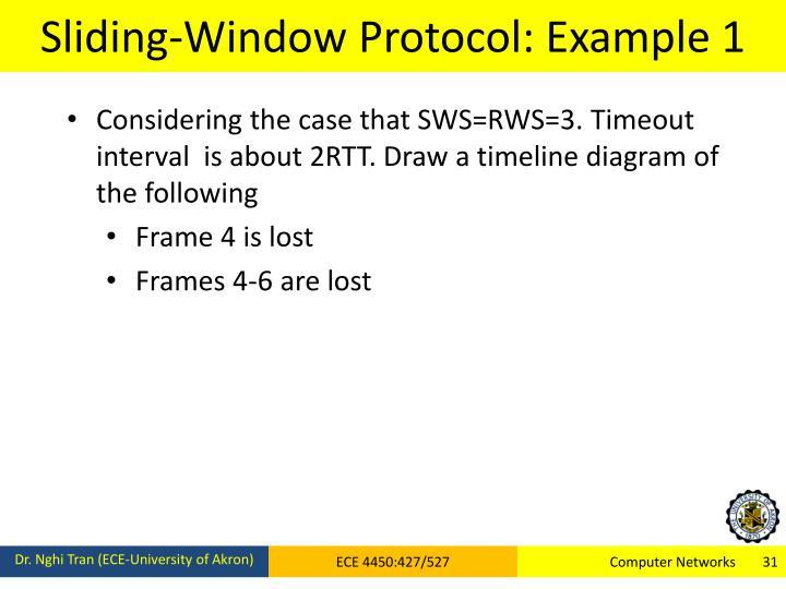 Sliding-Window Protocol: Example 1
