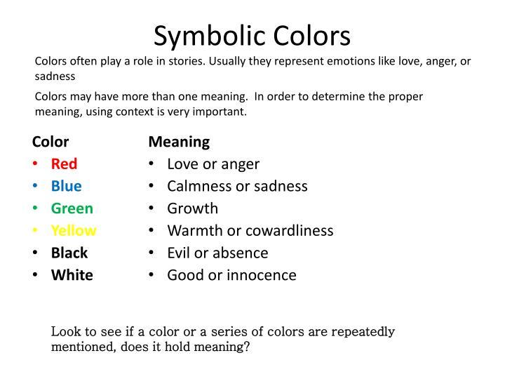 Ppt Symbols In Literature Powerpoint Presentation Id2142885