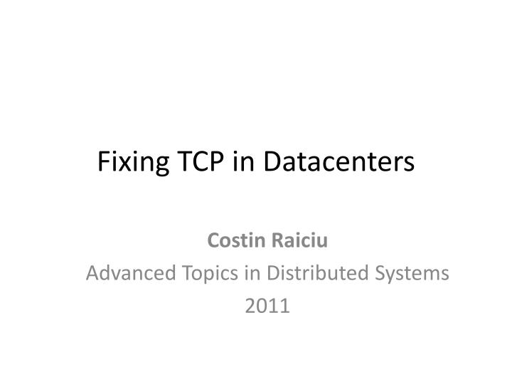fixing tcp in datacenters n.