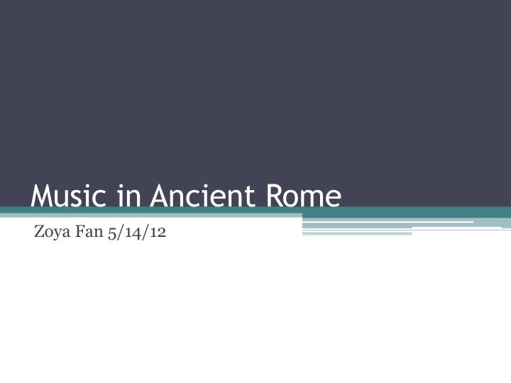 music in ancient rome n.