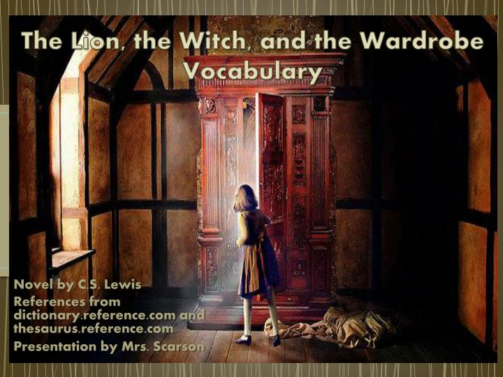 an analysis of atonement in the lion the witch and the wardrobe a novel by c s lewis