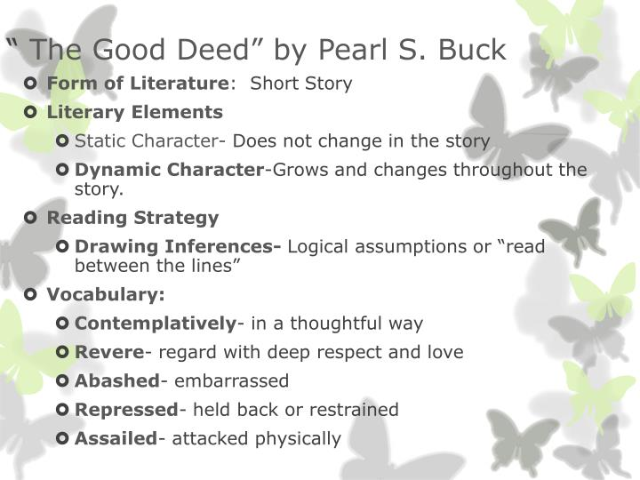 the good deed short story pearl s buck