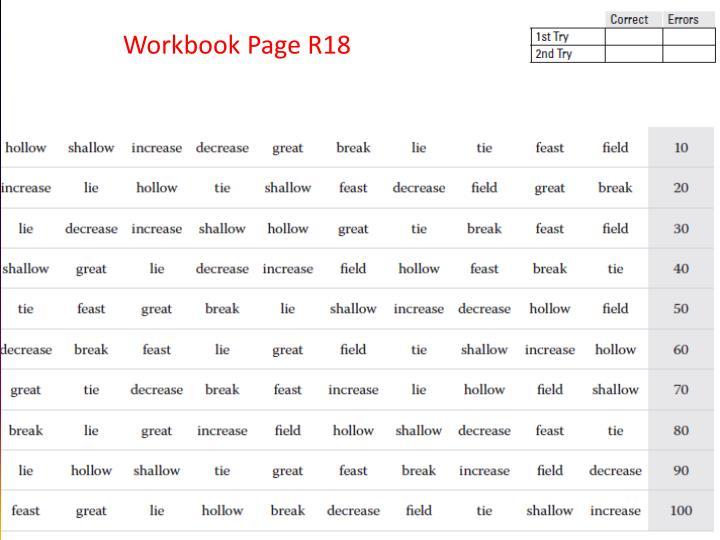 Workbook Page R18