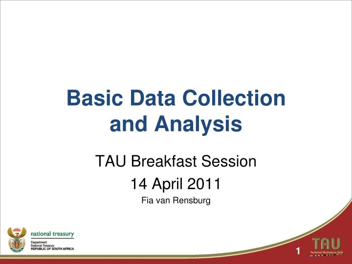 basic data collection and analysis n.