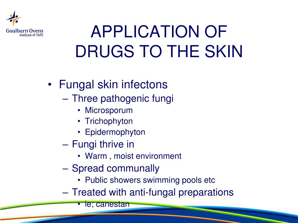 PPT - APPLICATION OF DRUGS TO THE SKIN PowerPoint Presentation - ID