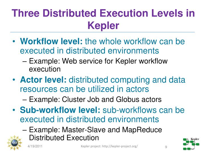 Three Distributed Execution Levels in