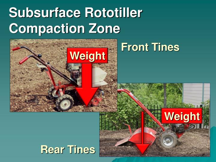 Subsurface Rototiller Compaction Zone