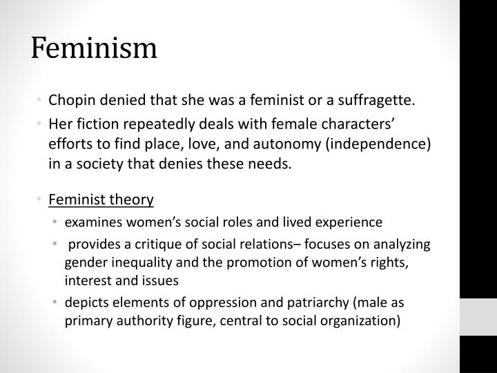 the oppression of women and the womens movement in the novel the awakening by kate chopin The character of edna in kate chopin's 'the awakening'  and the women's movement  brubaker on the oppression of women by traditional.