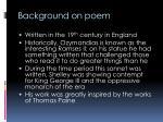 background on poem
