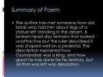 summary of poem