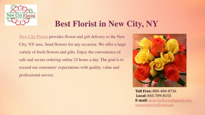 Best Florist in New City, NY